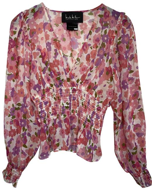 Item - Multicolor New Ls Floral Msrp Sample Small Blouse Size 4 (S)