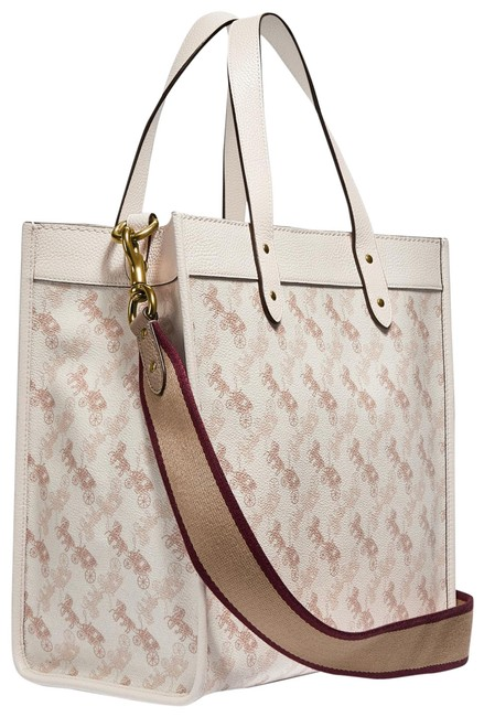 Item - Field with Horse and Carriage Print White Canvas Tote