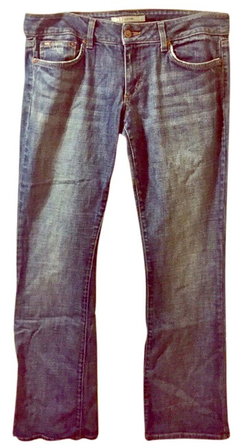 Item - Blue Distressed Honey Boot Cut Jeans Size 12 (L, 32, 33)