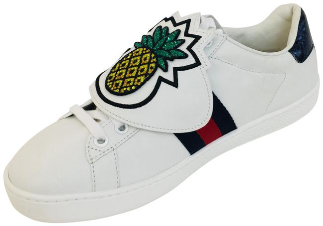 Item - White New Ace Pineapple Embroidered Patch Low Top Sneakers Size US 7 Regular (M, B)