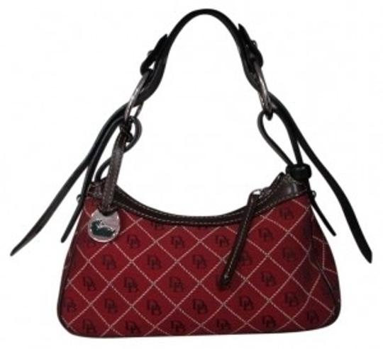 Preload https://item4.tradesy.com/images/dooney-and-bourke-signature-dark-red-with-dark-brown-leather-straps-woven-jacquard-hobo-bag-29053-0-0.jpg?width=440&height=440