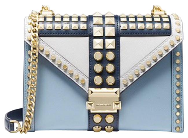 Item - Studded Bags Blue and Gold Leather Satchel