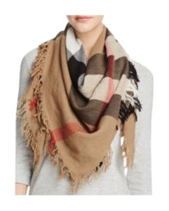 Burberry Burberry Color Check Wool Scarf