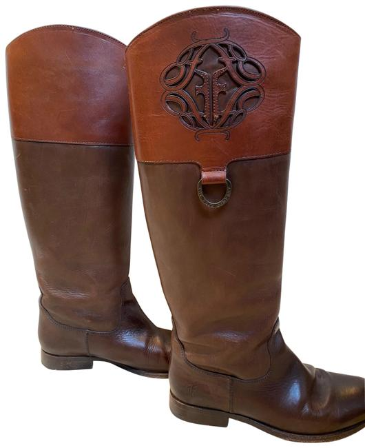 Item - Two-toned Black Melissa Logo Riding Brown Boots/Booties Size US 8.5 Regular (M, B)