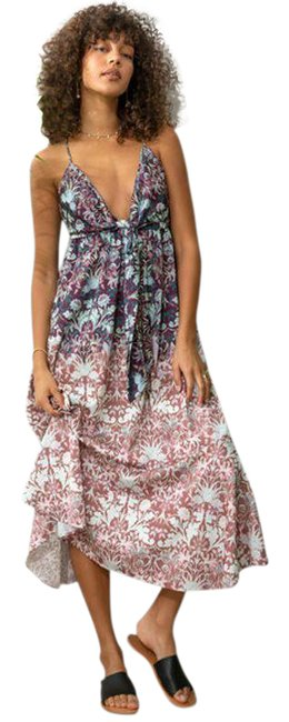 Item - Brown Sun Bleached Tie Front Midi Mid-length Casual Maxi Dress Size 8 (M)