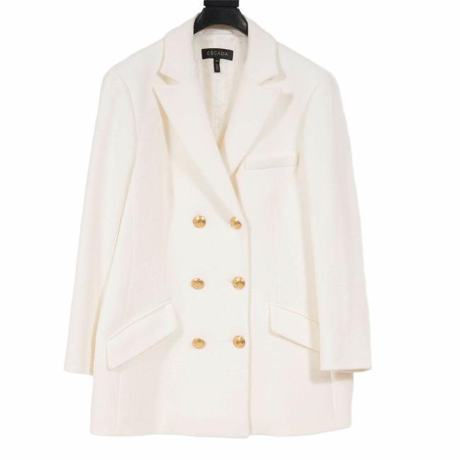 Item - Gold Cream Double Breasted Blazer Size 14 (L)