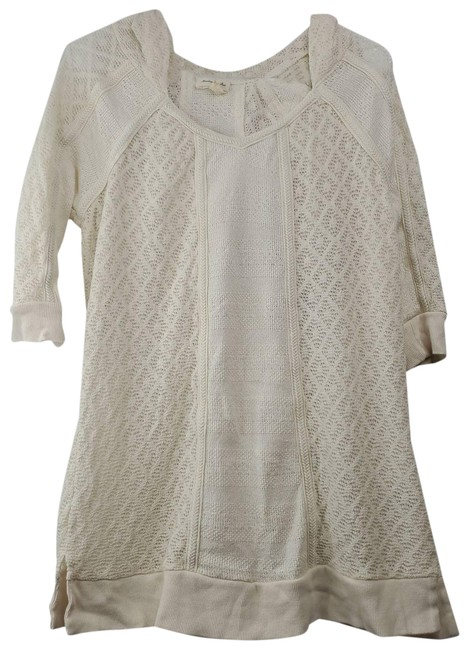 Item - Anthro Meadow Rue Whispering Wind Tunic Cream Sweater