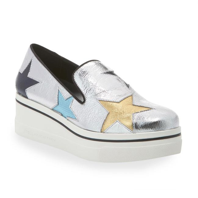 Item - Silver Multi Binx Metallic Stars Sneakers Platforms Size US 11 Regular (M, B)