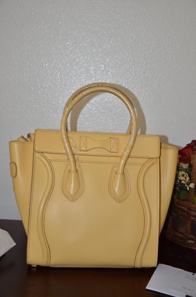e6ecc4848c Céline Luggage Bnwt Micro Butter Saffron Yellow Leather Tote - Tradesy