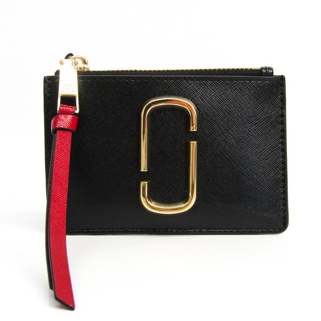 Item - Black / Bordeaux / Red Color Snapshot Top Zip Multi M0013359 Women's Coated Leather Coin Purse/Coin Case Wallet
