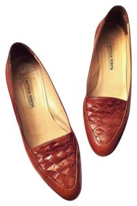 Bottega Veneta Woven Leather Brown Flats