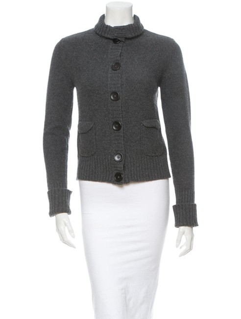Item - Wool and Cashmere Cardigan Grey Sweater