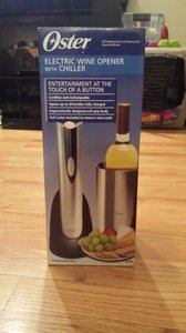 Silver and Black Base Electric Wine Opener with Chiller Household Electronics