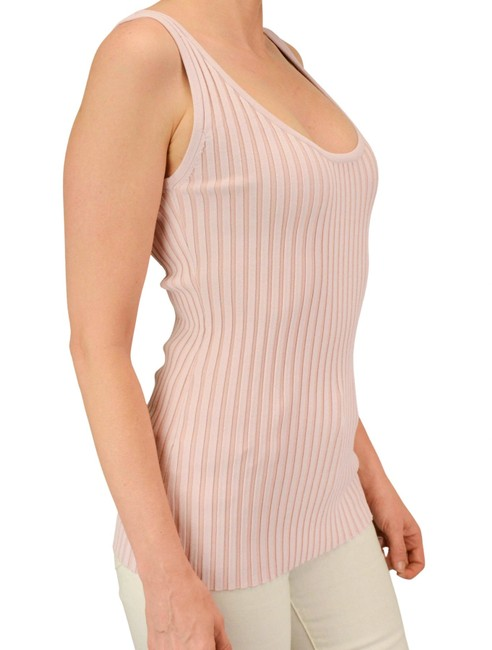 Item - Pink Knit Ribbed Tank Top/Cami Size 6 (S)