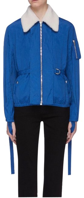 Item - Cobalt Sheer Bomber with Removable Genuine Shearling Collar Jacket Size 8 (M)