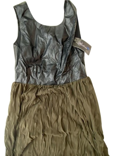 Item - Green Faux Leather Short Night Out Dress Size 8 (M)