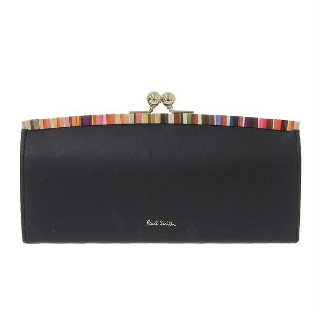 Item - Black Leather Crossover Striped Trim Purse Pwd545 Wallet