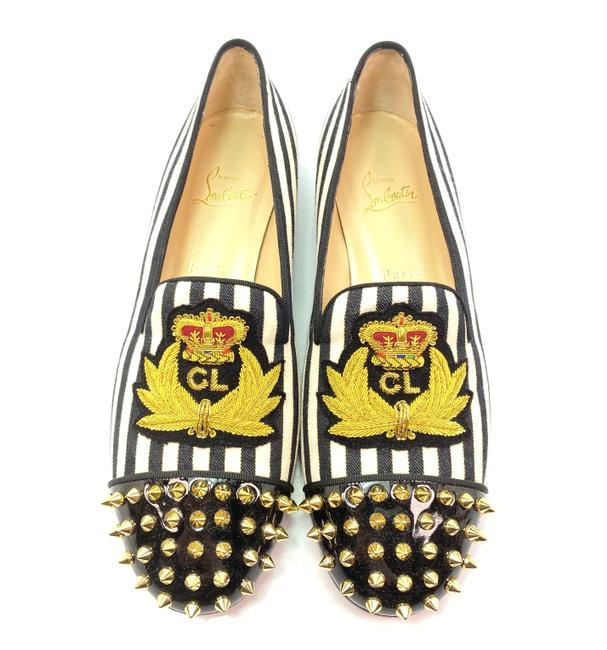 Item - Multicolor Intern Spiked Toe Canvas Striped Loafers Flats Size EU 40 (Approx. US 10) Regular (M, B)