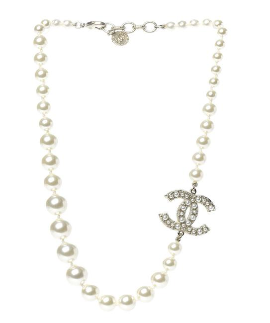 Item - Gold Cc Pearl Necklace