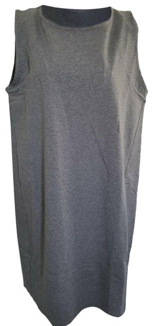 Item - Gray Stretchjerseydress Mid-length Short Casual Dress Size 8 (M)