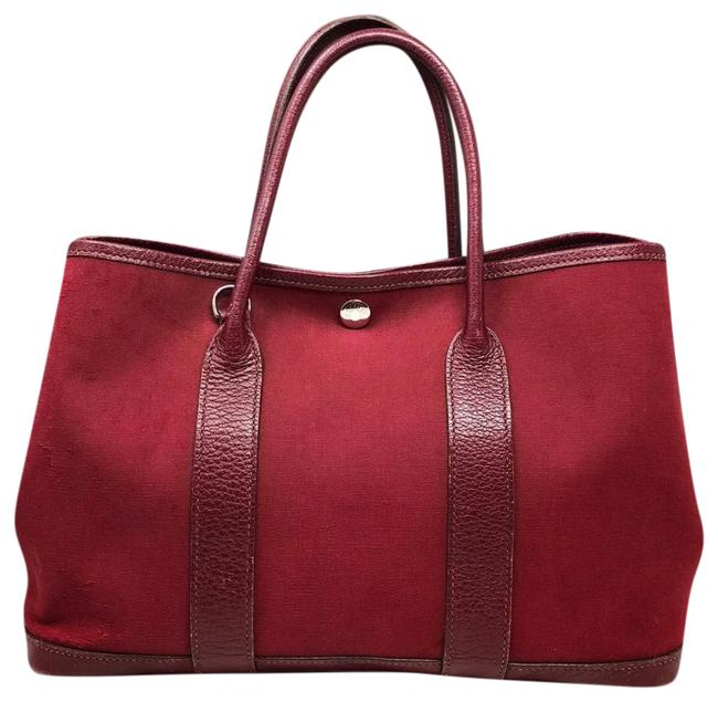 Item - Garden Party Rouge Imperial Tote Red Leather Satchel
