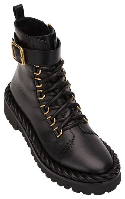 Item - Garavani Black The Rope Lace-up Combat Boots/Booties Size EU 40 (Approx. US 10) Regular (M, B)