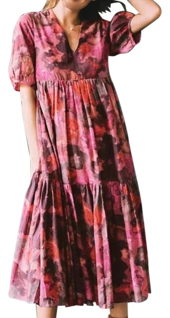Item - Pink Purple / Samant Chauhan Clemencia Tiered Long Casual Maxi Dress Size 8 (M)