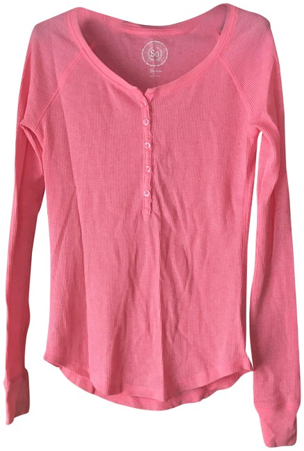 Item - Pink Henley Tunic Size 8 (M)