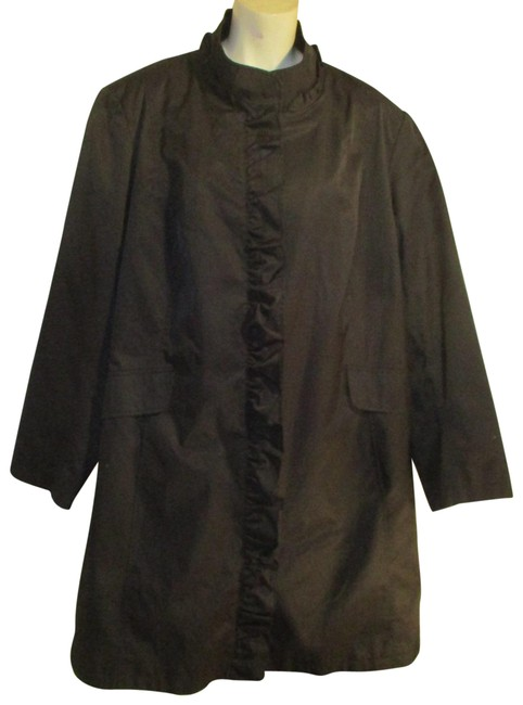 Item - Black All Weather Trench Coat Size 26 (Plus 3x)