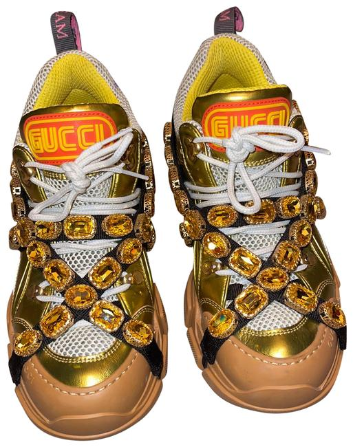 Item - Gold Flashtrek Chunky Sneakers Size EU 40.5 (Approx. US 10.5) Regular (M, B)