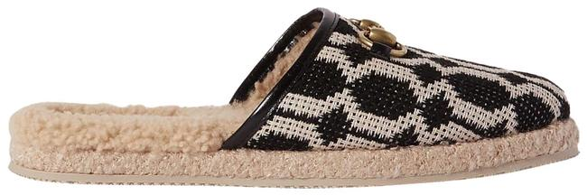 Item - Black Fria Horsebit-detailed Shearling-lined Printed Canvas Slippers Mules/Slides Size EU 39 (Approx. US 9) Regular (M, B)