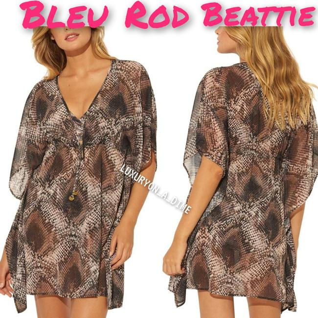 Item - Snake Skin In The Game Deep V Caftan Tunic Cover-up/Sarong Size 8 (M)