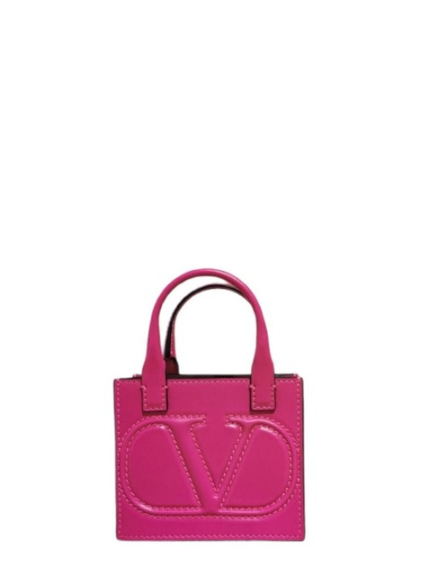 Item - Vlogo Signature Pouch Pink Calf Leather Tote