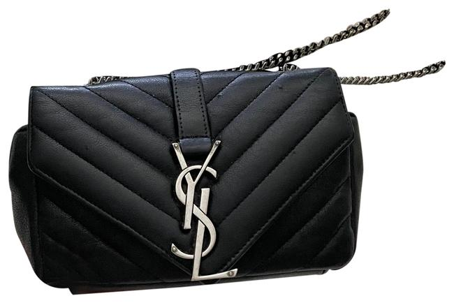 Item - College Black/Silver Leather Cross Body Bag
