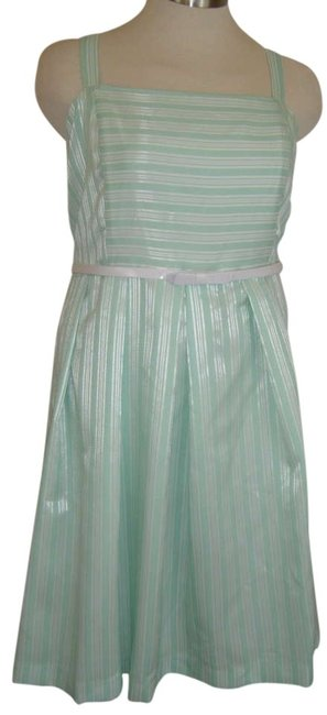 Preload https://img-static.tradesy.com/item/290579/green-and-white-woven-stripe-22w-mid-length-workoffice-dress-size-20-plus-1x-0-0-650-650.jpg