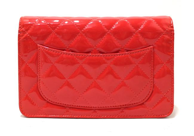 Chanel Chain Wallet on Woc Red Patent Leather Messenger Bag Chanel Chain Wallet on Woc Red Patent Leather Messenger Bag Image 6