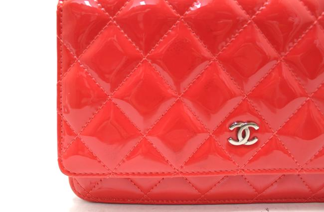 Chanel Chain Wallet on Woc Red Patent Leather Messenger Bag Chanel Chain Wallet on Woc Red Patent Leather Messenger Bag Image 7