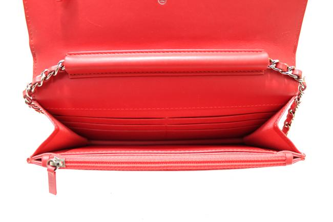 Chanel Chain Wallet on Woc Red Patent Leather Messenger Bag Chanel Chain Wallet on Woc Red Patent Leather Messenger Bag Image 9