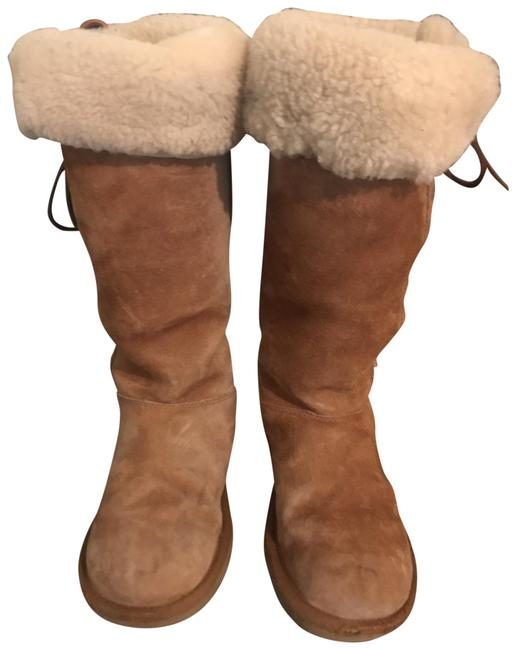 Item - Camel 5163 Winter Shearling Lace Up Tall Boots/Booties Size US 6 Regular (M, B)