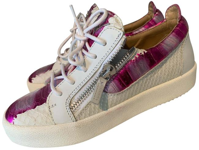 Item - Pink and White Frankie Sneakers Size EU 38 (Approx. US 8) Regular (M, B)
