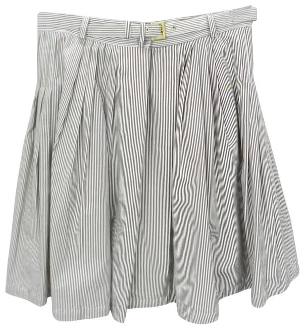 Item - Brown And White Striped Full Womens Casual Skirt Size 4 (S, 27)