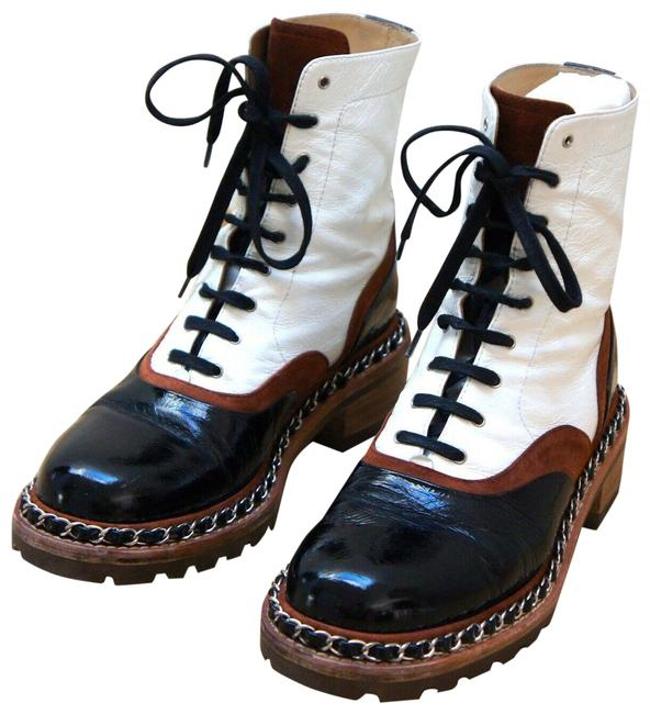 Item - Multicolor Salzburg 2015 Suede Patent Leather Calfskin Lace-up Boots/Booties Size US 7.5 Narrow (Aa, N)