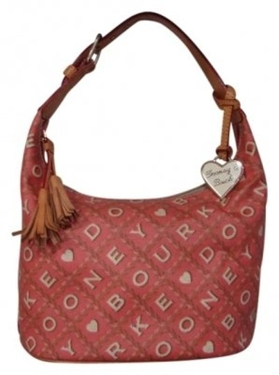 Preload https://img-static.tradesy.com/item/29059/dooney-and-bourke-signature-bucket-pinkish-rose-with-cream-lettering-cloth-tote-0-0-540-540.jpg