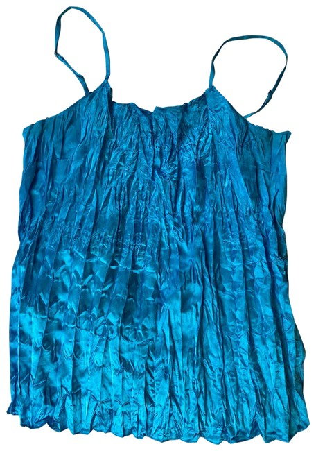 Item - Blue Turquoise Silky Tank Top/Cami Size 8 (M)