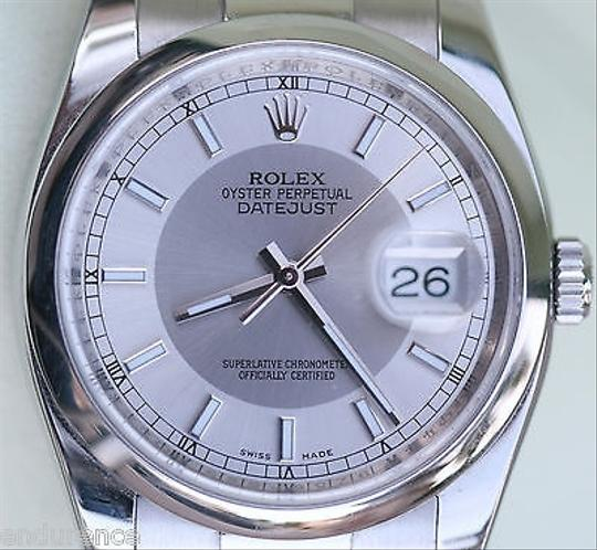 Rolex Rolex Datejust Mens Steel Watch Complete Box Booklets Tags Warranty Card