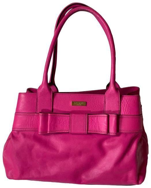 Item - Lg Hot In Pink Leather Satchel