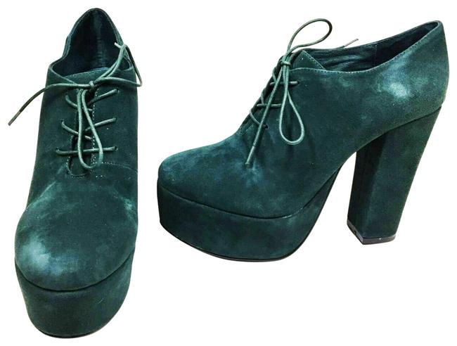 Item - Green Claire Women's Lace Up Heeled Pumps Size US 7 Regular (M, B)