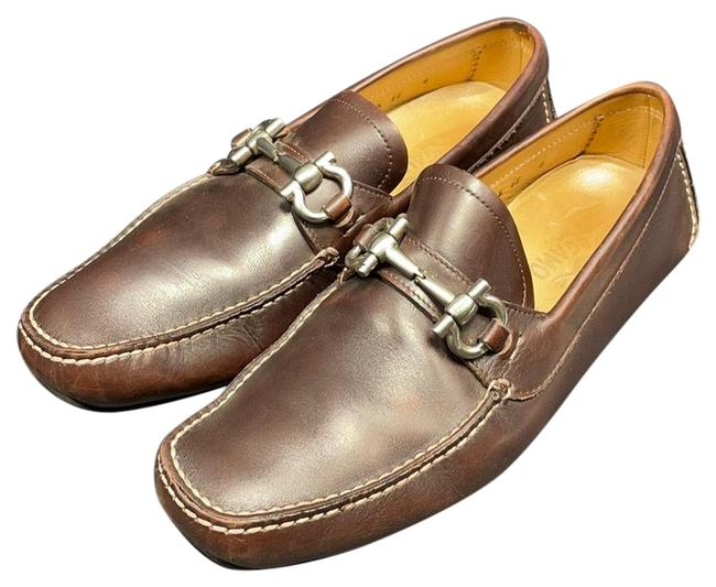 Item - Brown Giancini-buckle Loafers Pumps Size US 8 Regular (M, B)