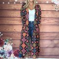 LuLaRoe Sarah Colorful Duster Red Sweater LuLaRoe Sarah Colorful Duster Red Sweater Image 2