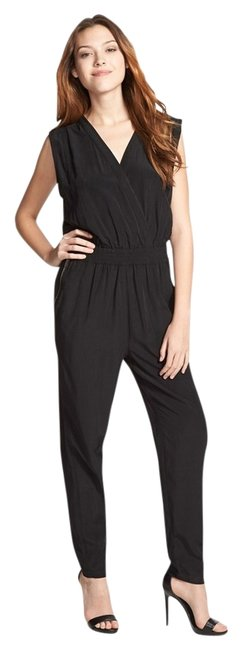 Olive + Oak Black Sleeveless Jumpsuit Style #LV4S2260